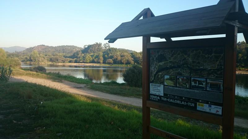 Vistas al río Miño Caldelas