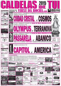 CARTEL FIESTA ROCHA 2015 CALDELAS DE TUI